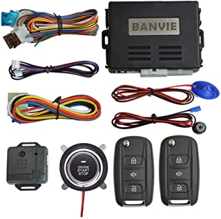 $44 » BANVIE Car Alarm System with Remote Start & Push to Start Ignition Kit Engine Button