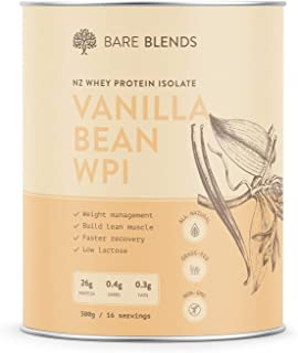 Bare Blends - Natural Whey Protein Isolate & Vanilla Bean | WPI | Whey Protein Powder | Gluten Free | non-GMO | 500g