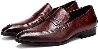 Low Top Business Oxford Shoes Formal Shoes (Color : Claret, Size : 44)