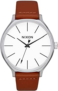 Nixon Clique Women's Fashion-Forward Watch (38mm. Leather Band)