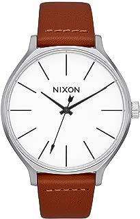 Nixon Clique Women's Fashion-Forward Watch (38mm. Leather Band)