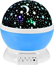 Basic Deal Plastic Glass Rotating 4 Mode Sky Star Master Mini Projector Lamp for Kid's Room Decor (Assorted Colour)