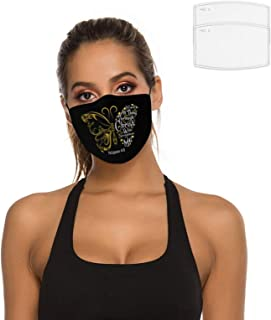 Philippians 413 Christian Bible Butterfly Face Mask 2 Filters Reusable Bandana Scarf Adjustable Ear Loops Nose Wire