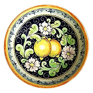 CERAMICHE D'ARTE PARRINI - Italian Ceramic Small Bowl Decorated Lemons Art Pottery Made in ITALY Tuscan