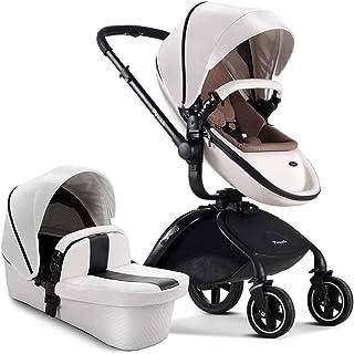 50 49 104cm Color : Blue AB High Landscape Stroller Baby Stroller Steel Tube Ultra Light Folding Toilet Can Be High Landscape