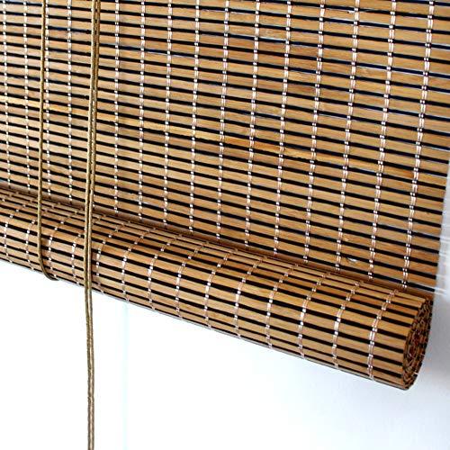 ZAQI Estores Enrollables Garden Patio Gazebo Exterior Enrollable, Persianas Enrollables de Bambú con Cenefa, 65/85/105/125/135 cm de Ancho (Size : 135×190cm)