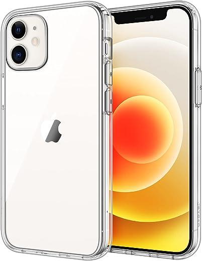 JETech Coque pour iPhone 12/12 Pro 6.1 Pouces Antichoc Bumper Cover Anti-Scratch Clear Back HD Clear