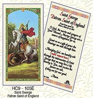 St. George Patron Saint of England Paper Prayer Cards - Pack of 100 - HC9-105E-L