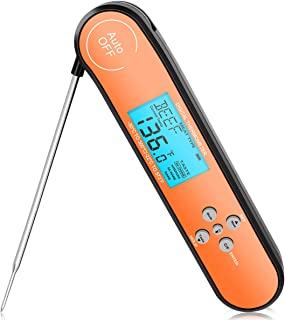 [Professional is The Best] Meat Thermometer for Cooking, Grill Thermometer for Meat Milk Candy Chocolate, Digital Food Thermometer with Long 4.25 inch Probe (with Backlight and Magnet)