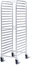 Giantex 20-Tier Kitchen Bun Pan Sheet Rack Aluminum Bakery Rack Home Commercial Kitchen Bakery Cooling Rack w/Wheels 2 Lockable & Open Shelf