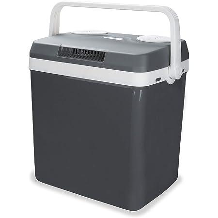 Hengda Kühlbox Tragbare 32 Liter Thermo Elektrische Kühlbox WÄrmt Und KÜhlt Mini Kühlschrank 12 Volt Und 230 Volt Eco Modus Mit Tragegriff Für Auto Innenraum Camping Auto