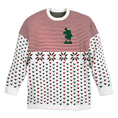 Disney Mickey Mouse Holiday Spirit Jersey Sweater for Adults Size XL
