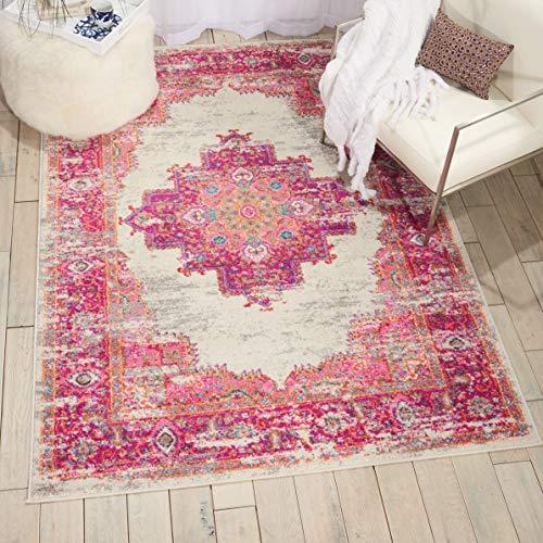 Marca de Amazon - Movian Vacha, alfombra rectangular, 175,3 de largo x 114,3 cm de ancho (diseño geométrico)