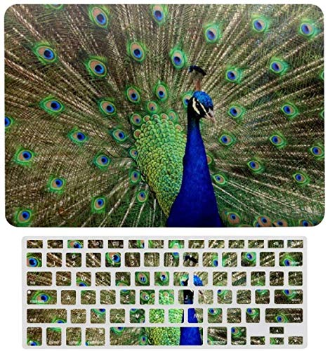 Funny Peacock Shows Tail Laptop Keyboard Membrane Protective Shell Set for MacBook Air 13 New Pro 13touch Air 13