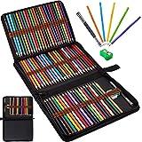 Frasheng Matite Colorate Professionali,Set da 72 Matite Colorate da Disegno,con astuccio con zip,gomma,estensore per matita a doppia punta e temperino,Per Adulti,Bambini,Professionisti e Principianti