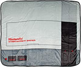 Bioworld NES Classic Nintendo Entertainment System Plush Throw Blanket 48