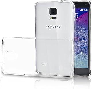 """ELECTRÃ""""NICA REY Funda Carcasa Gel Transparente para Samsung Galaxy Note 4 Ultra Fina 0,33mm, Silicona TPU de Alta Resistencia y Flexibilidad"""