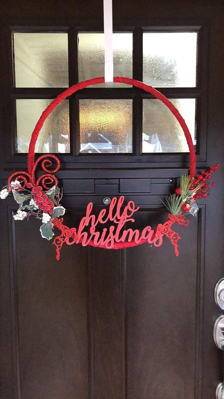 Christmas Decor: Red and Green Christmas Wreath