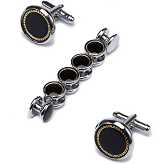 Ujoy Men's Jewelry Cufflinks and Studs for Tuxedo Shirts for Weddings, Business, Dinner