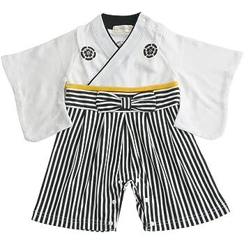 袴ロンパース 白 60cm