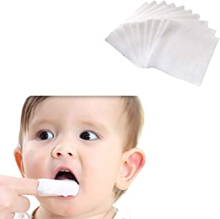 Serlife Baby Teeth Soft Gauze Infant Finger Clean Oral Toothbrush 120Pcs Infant Mouth Cleaner for 0-36 Months