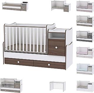 Lit bébé évolutif/combiné Trend Plus Lorelli (Le lit se transforme en : lit d'adolescent, bureau, armoire multi-fonction)