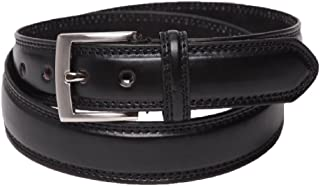 """Men's Leather Lined Belt, Classic Milano 1"""" Wide"""