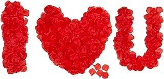 HongyiTime 1200 PCS Artificial Silk Rose Petals Decoration for Romantic Night, Wedding, Event, Party, Decoration, Color Re...