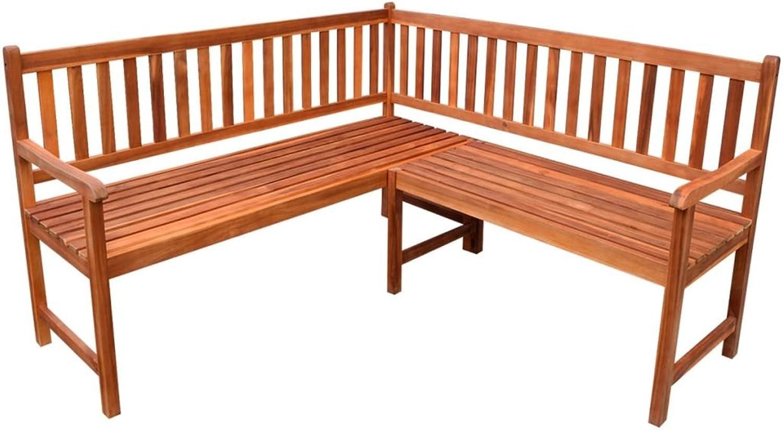 Outdoor Corner Bench Acacia Hardwood Seat Garden 5-Seater Chair Patio Furniture