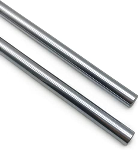 Linear Motion Rods 2PCS 8mmx 600mm (0.315 x 23.62inches) Case Hardened Chrome Plated Linear Motion Rod Shaft Guide fo...