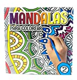 Libro de colorear, Mandalas para colorear. Dibujos de círculos y remolinos. Serie 2.
