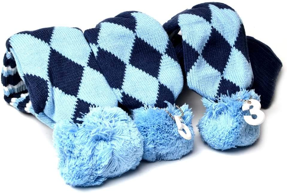 GOOACTION 3PCS Knitted Golf Head Covers and Virginia Beach Mall Some reservation Driver for 1-3-5 Fai