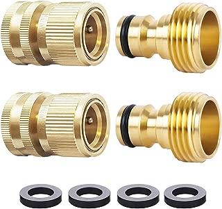 Best garden hose quick connectors solid brass Reviews