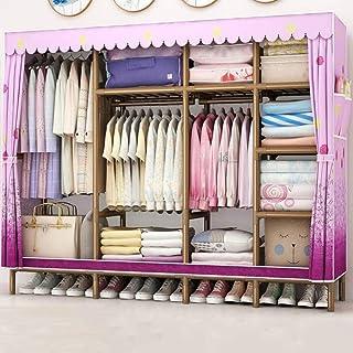 HWG Armoire Penderie Armoire Portable Organisateur De Rangement De Vêtements Portable avec 3 Cintres, 9 étagères pour Cham...