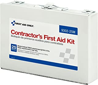 Pac-Kit by First Aid Only Contractor's First Aid Kit, Metal Case, 3.61 Pound