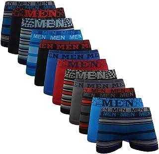 Kit 12 Cuecas Boxer Microfibra Men Sem costura