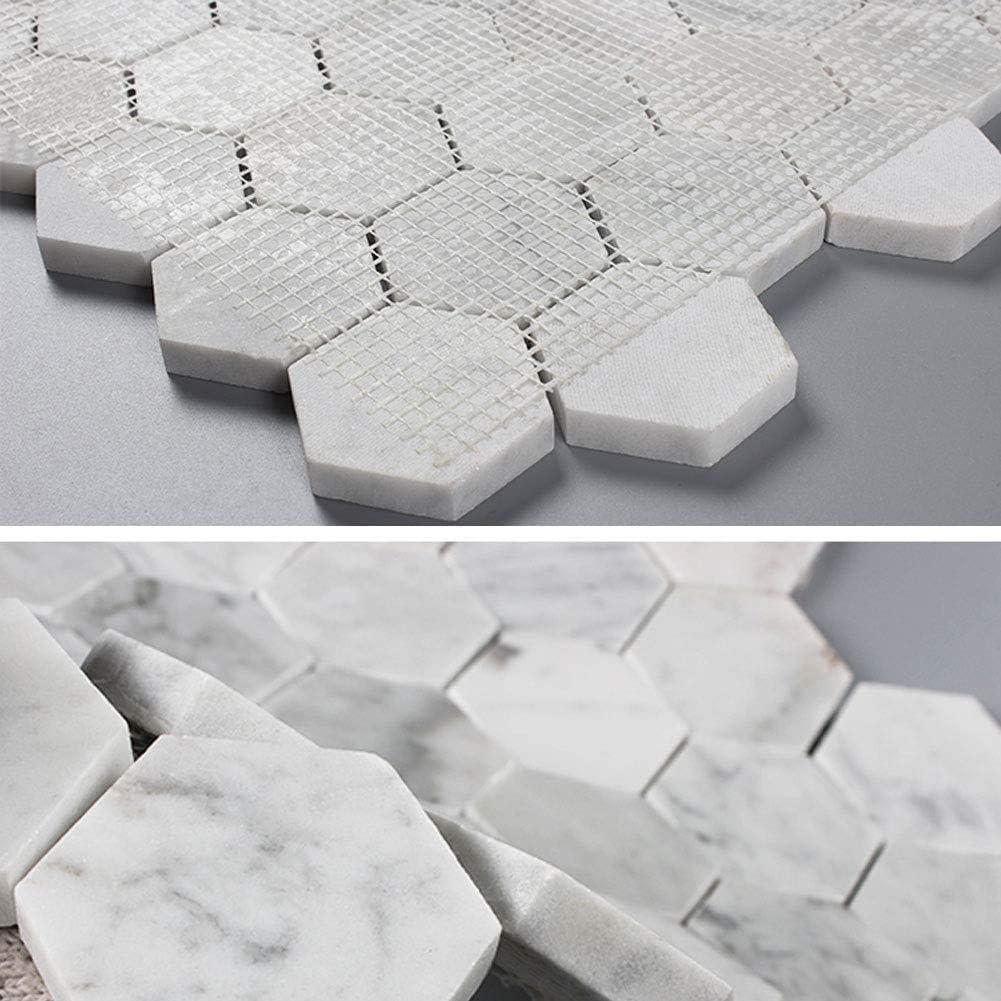 Diflart Carrara Italian Cheap SALE Start White Marble Inch Tile Mosaic Hexagon 2 List price