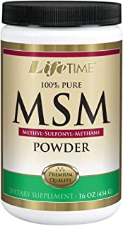 Lifetime 100% Pure MSM (Methylsulfonylmethane) Powder | Supports Healthy Joints & Skin | 2500 mg Per Serving | 16 oz, 180 ...