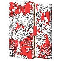 OPPO A5 2020 ケース 手帳型 カバー おしゃれ かわいい 耐衝撃 花柄 人気 純正 全機種対応 花の形 赤色 ファッション かわいい フラワー 2214565