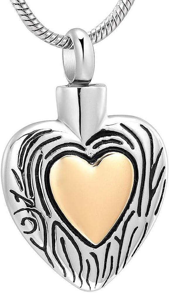 Popular popular YNNANGG Ashes Necklacetwo Tone Heart Keepsake Women Necklace for Nashville-Davidson Mall