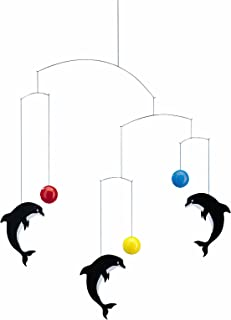 Flensted Mobiles Delphinarium Hanging Nursery Mobile - 20 Inches Plastic