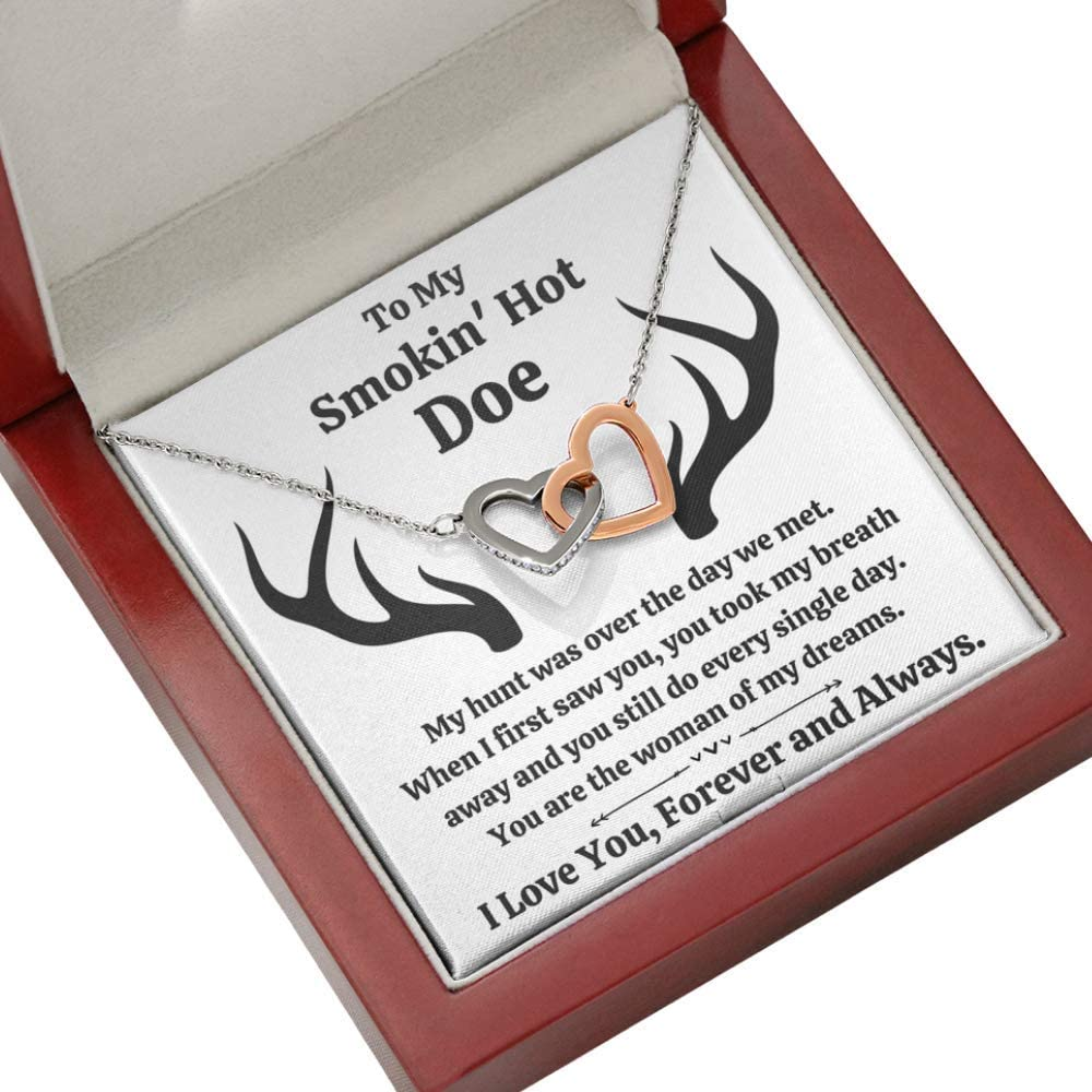 To My Smokin' Hot Charlotte Mall Doe with Necklace Hearts Interlocking