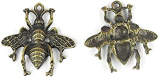 5x Anti-Brass Fashion Jewelry Making Charms A13965 Little Bee Wholesale Supplies Pendant Craft DIY Vintage Alloys Necklace Bulk Supply Findings