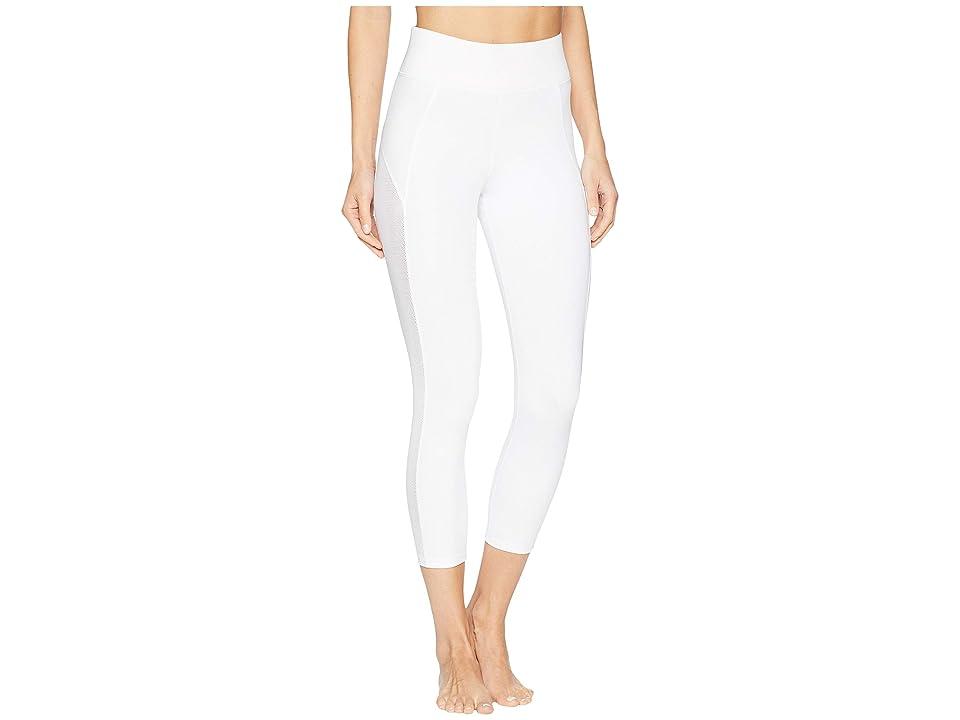 MICHI Stardust Crop Leggings (White) Women
