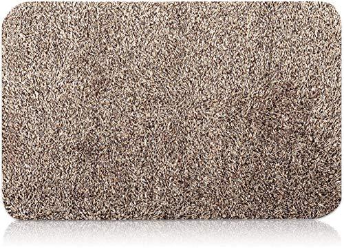 BEAU JARDIN Türmatte Schmutzfangmatte Fußabtreter Innen Fußmatte Sauberlaufmatte Schmutzabstreifer Fußabstreifer Türvorleger für Haustür Eingangsbereich Teppich 45,5x71cm Braun