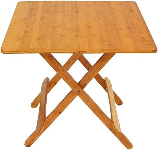 Tableau LHA Carré en Bois Massif Table Pliante, Table d'étude Lecture d'intérieur, Salon Table Salle (Taille   80cm)