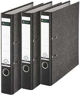 Leitz Kwaliteitsmap, wolkenmarmer papier, A4, 5,2 cm rugbreedte, zwart, 3-pack, 310315095