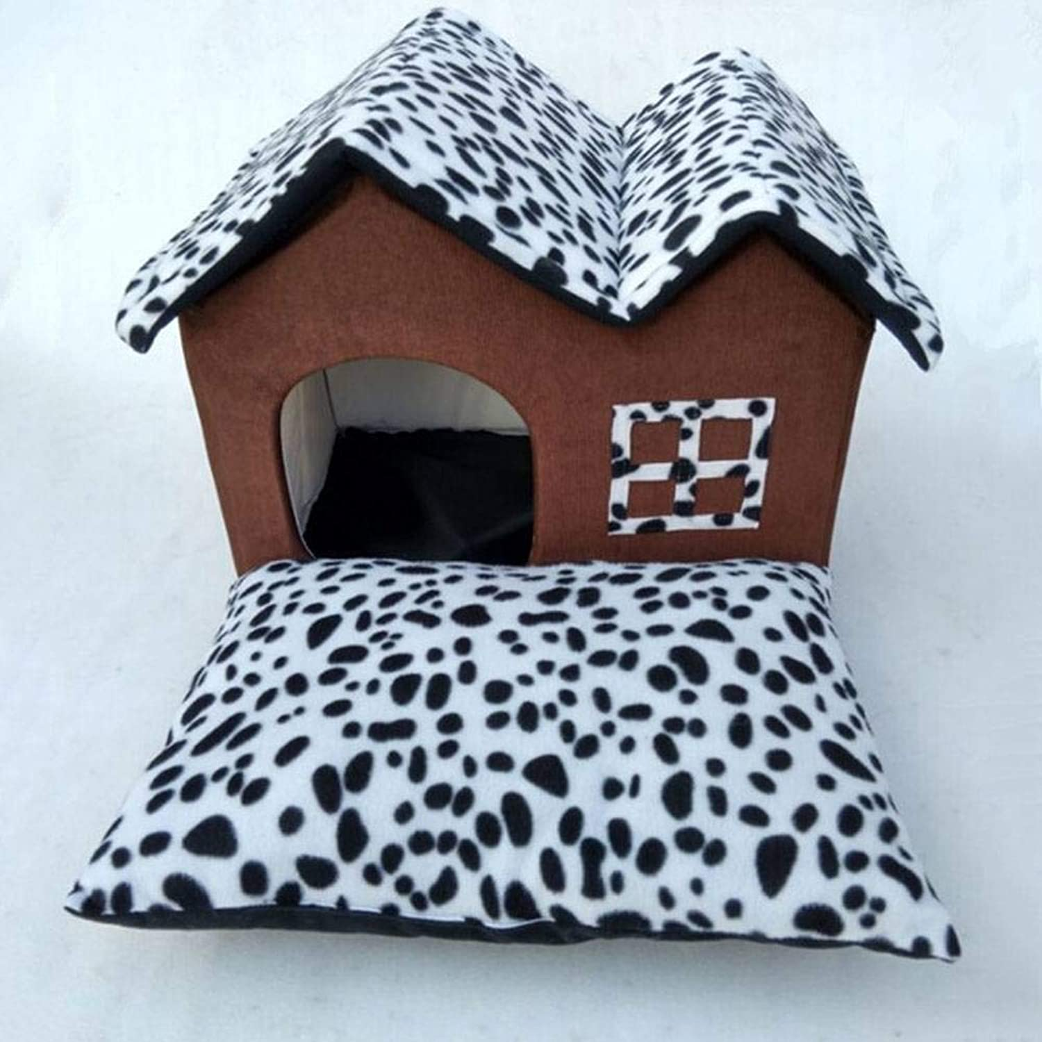 ADFHGFJ Pet House Pet Bed provides pets with rest in of cushions suitable for four seasons