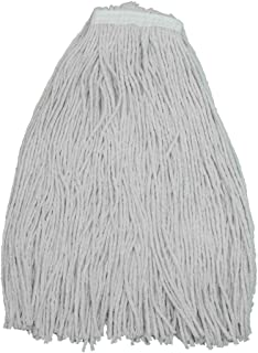 Pack of 12 Zephyr 20020 Shineup 4-Ply Cotton 20oz Screwflat Cut End Mop Head