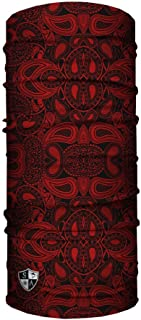 SA Company Face Shield-Red Paisley